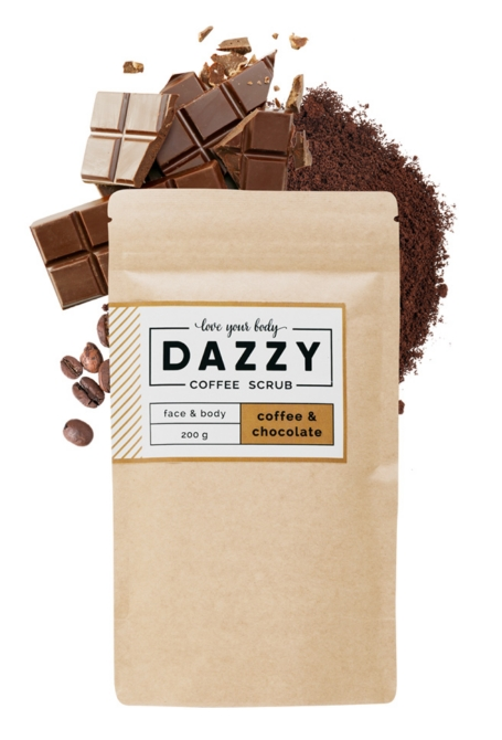 Dazzy coffee scrub bőrradír 200g chocolate